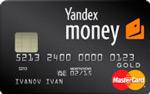 Карта MasterCard GOLD от Яндекс.Денег