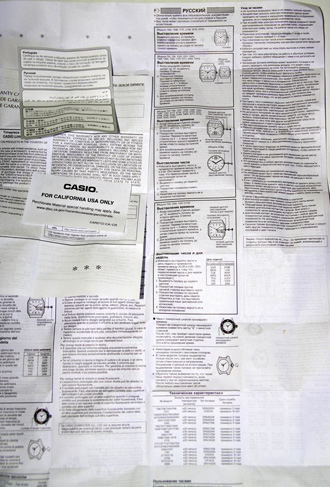 Casio-edifice-EF-106D мультиязычная инструкция, в том числе русском языке