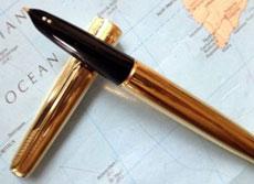 Закрытое перо; две точки на кончике ручки, а не стрелка - это отличительная особенность ручек Parker изготовленных в Аргентине
