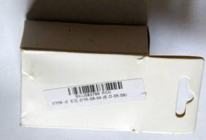 Коробочка со SKU-номером и адаптером под АА батарейки