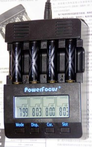 Зарядка аккумуляторов Sanyo Eneloop XX током 800 мА